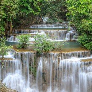 "TH.Huay_Mae_Khamin_Wasserfall Der ""Huay Mae Khamin Wasserfall"" in Thailand"