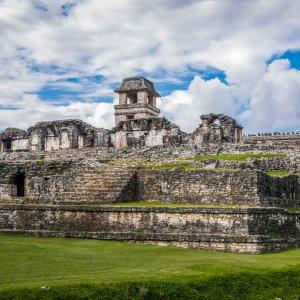 MX.Palenque.Palast Der Palast der Anlage in Palanque