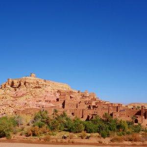 """MA.Ouarzazate.Ait_Ben_Haddou Blick auf die historische Oasenstadt """"Ait Ben Haddou"""" nahe Ouarzazat, Marokko"""