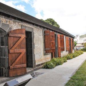 """MU.Port Louis Aapravasi Ghat Das Einwanderungs Lager und Weltkulturerbe """"Aapravasi Ghat"""" in Port Louis Mauritius"""