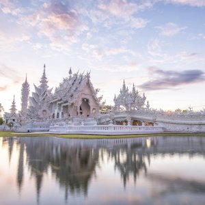 """TH.Wat_Rong_Khun Der weiße Tempel """"Wat Rong Khun"""" im thailändischen Chiang Rai"""