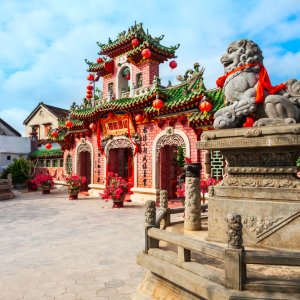 VN.Hoi_An_Chinesische_Versammlungshallen Der Blick auf eine chinesische Versammlungshalle.