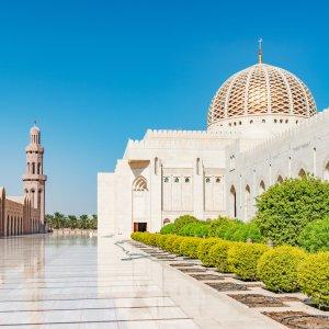 OM.Sultan Qaboos Grand Moschee 4 Sultan Qaboos Grand Moschee von außen