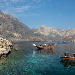OM.Musandam Oman Musandam Dhau Berge Fjord Schiff