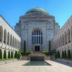 AU.Canberra War Memorial Der Innenhof des prächtigen War Memorials.
