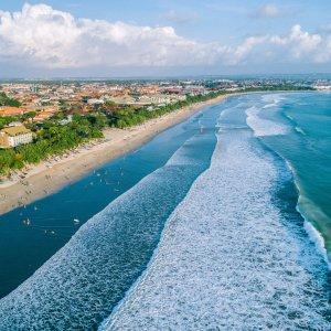 Bali.Kuta Luftaufnahme eines Strandabschnitts