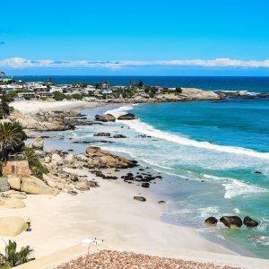 Clifton.Strand Clifton Beach ist der Trendstrand Kapstadts am kühlen Atlantik.