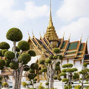 Seitenansicht des Grand Palace im thailändischen Bangkok