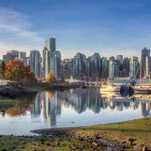 Kanada Vancouver Skyline View Stanley Park