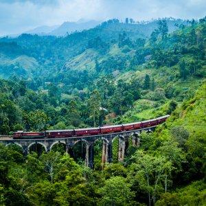 LK.Ella Die Nine Arches Bridge in Ella in Sri Lanka