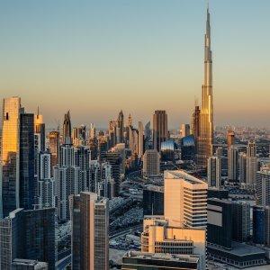 UAE.POI.Burj Khalifa 4 Blick auf die Skyline von Dubai
