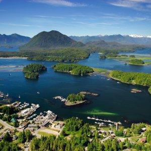 Torfino Vancouver Island mit Blick über das Meer