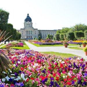 Kanada Queen Elizabeth II Gardens Legislative Building Regina Saskatchewan