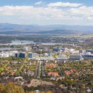 AU.Canberra_View Der Blick über Canberra.