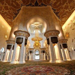 UAE.Scheich-Zayid-Moschee_Indoor Das prachtvolle Innere der Moschee