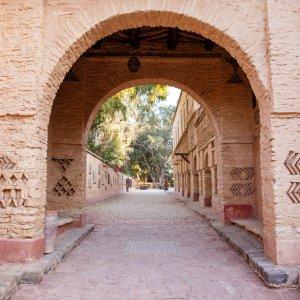 MA.Agadir.Medina Die alte, historische Architektur der Medina in Agadir, Marokko