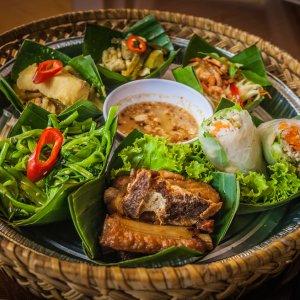 KH.Siem_Reap_Essen Der Blick auf kambodschanisches Essen in Siem Reap, Kambodscha.