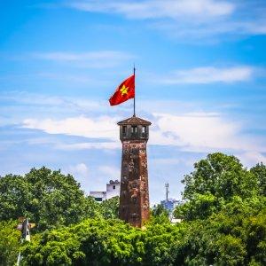"""VN.Zitadelle_Thang_Long_Flaggenturm Der Flaggenturm der Zitadelle """"Thang Long"""" in Hanoi"""