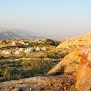 JO.Biosphärenreservat_Dana_Rummana_Campsite Jordanien Biosphärenreservat Dana Naturreservat Rummana Campsite