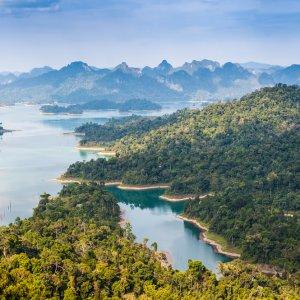 TH.AR.Khao Sok Nationalpark Blick auf den Khao Sok Nationalpark von oben