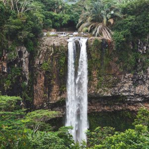 MU.Chamarel-Wasserfälle Die Zwillingswasserfälle von Chamarel, Maritius