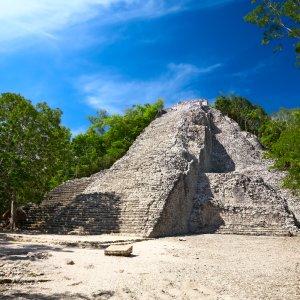 MX.Cobá_Nohoch_Mul-Pyramide Die Pyramide Nohoch Mul in Cobá