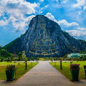 TH.AR.Pattaya Khao Chi Chan Moutain Blick auf den Khao Chi Chan Berg bei Tag