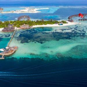 MV.Sued_Male_Atoll Luftaufnahme vom paradiesischen Süd Malé Atoll auf den Malediven