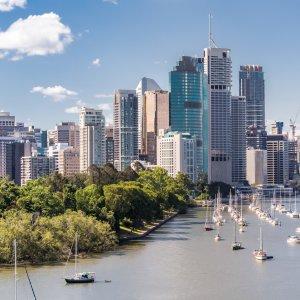 AU.Brisbane_Skyline Der Blick auf die Skyline von Brisbane.