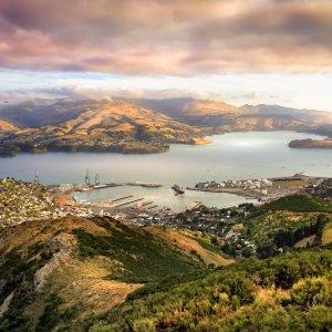 NZ.Christchurch Der Blick über die Stadt Christchurch.