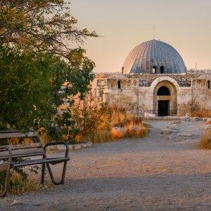 JO.Amman.Ruinen Alte Ruinen in der Dämmerung