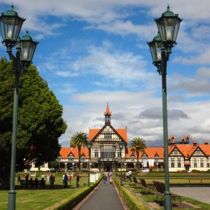NZ.Rotorua_Museum Der Blick auf das historische Rotorua Museum.