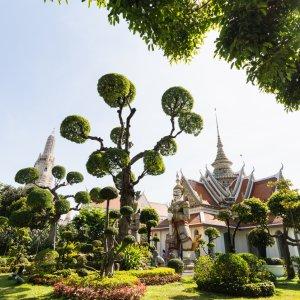 "Die Ordinationshalle ""Ubosot"" im Tempel Wat Arun in Bangkok"