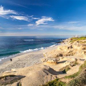 US.AR.San Diego Strand Blick auf einen Strand in San Diego