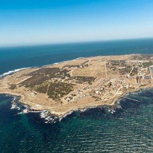 ZA.Robben Island 1 Luftaufnahme von Robben Island
