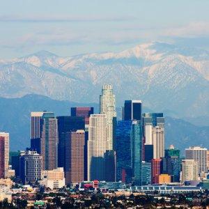 US.AR.Los Angeles Skyline Die Skyline von Los Angeles