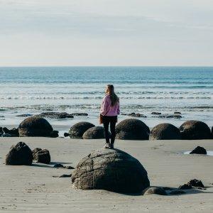 Moeraki Boulders near Oamaru, South Island New Zealand