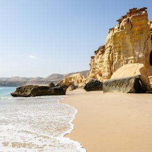 """OM.Ras_Al_Jinz_Strand Blick auf den wunderschönen Strand """"Ras Al Jinz"""" im Oman"""