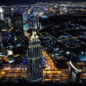 UAE.POI.Burj Khalifa 6 Dubai bei Nacht