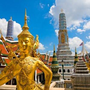 TH.Buddha Statue Grand Palace Die Buddha Statue im Grand Palace