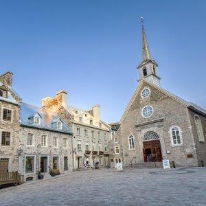 Kanada Quebec Altstadt historisches Stadtteil Vieux-Quebec Unterstadt Notre Dame des Victoires