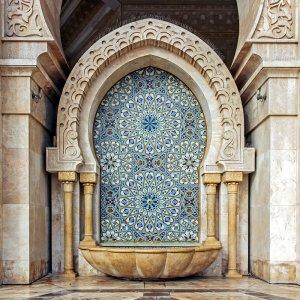 MA.POI.Hassan Moschee 6 Teil der Moschee von Innen