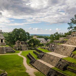 MX.Palenque.Kreuztgruppe_Tempel Die drei Tempel der Kreuzgruppe in der Übersicht