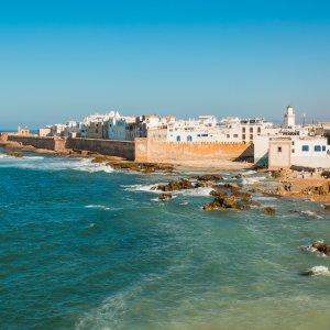 MA.Essaouira Blick auf die am Ozean gelegene Altstadt von Essaouira, Marokko
