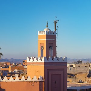 MA.Marrakesch Blick auf das orientalische Stadtbild von Marokko