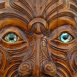 NZ.Maouri.Holzfigur