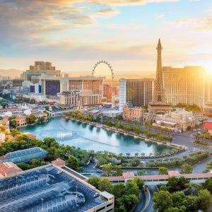 US.AR.Las Vegas 2 Blick auf Las Vegas bei Tag