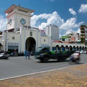 VN.Saigon_Ben-Than-Market Der Blick auf den Ben-Than-Market.