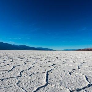 US.AR.Death Valley National Park Salzebene Blick auf die Salzebene im Nationalpark