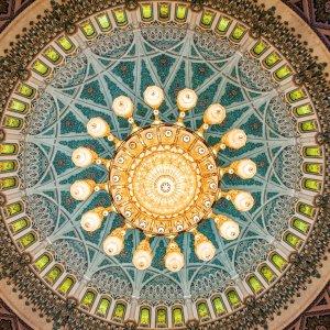 OM.Sultan Qaboos Grand Moschee 2 Kronleuchter in der Sultan Qaboos Grand Moschee im Oman